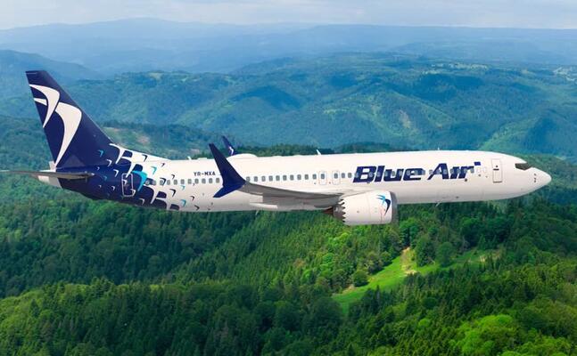 un aereo della blue air (foto ufficio stampa)