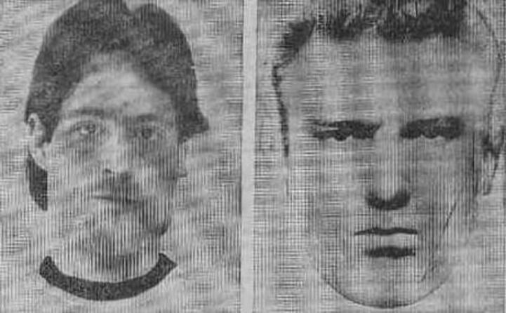 a sinistra la vittima a destra l identikit del killer