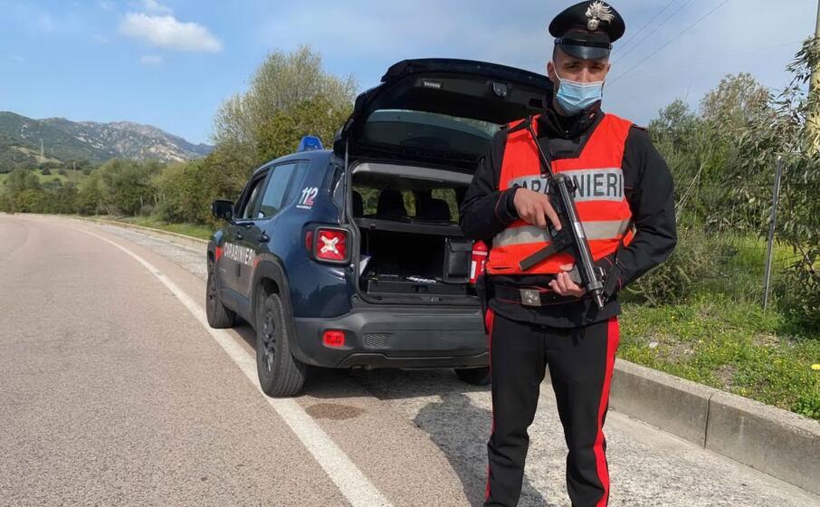un posto di controllo (foto carabinieri)