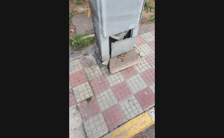 un tratto del marciapiede