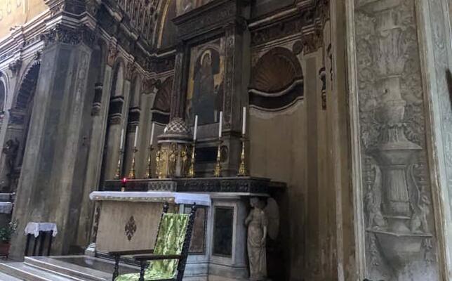 l abside con effetto ottico della chiesa di santa maria presso san satiro (foto mocci)