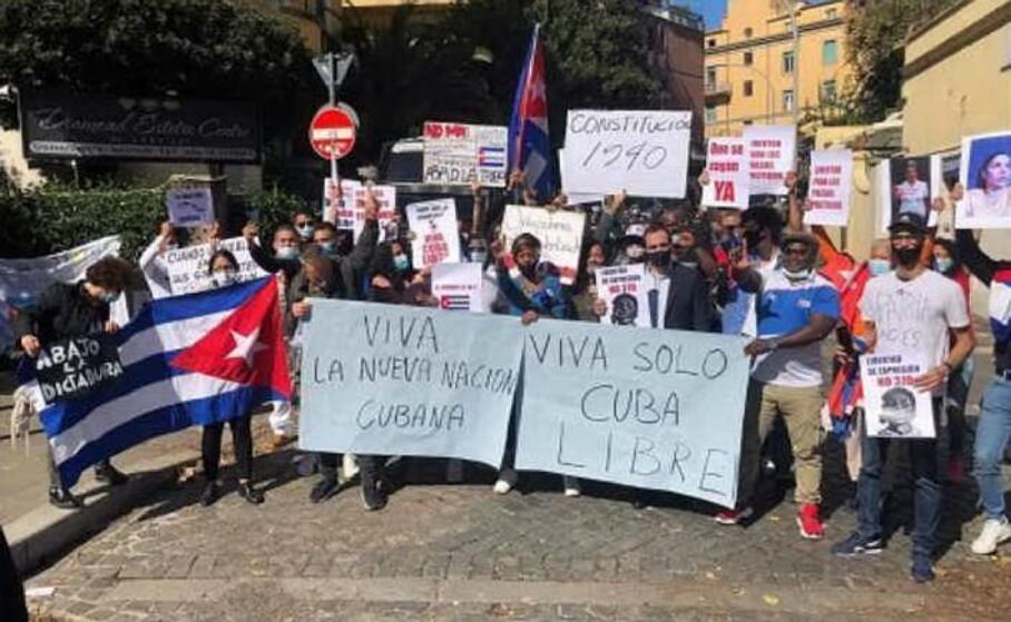 la protesta dei dissidenti cubani (aska)