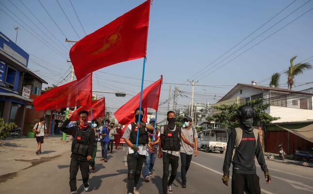 proteste in birmania (ansa)