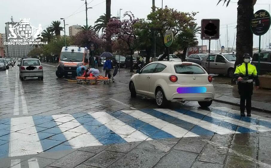 i soccorsi (foto polizia municipale)