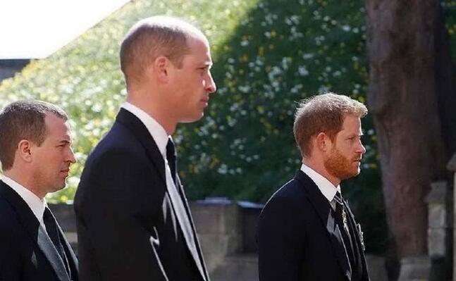 i due fratelli ai funerali del principe filippo (ansa)