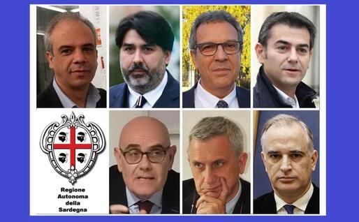 I sette candidati alla carica di governatore (Ansa)