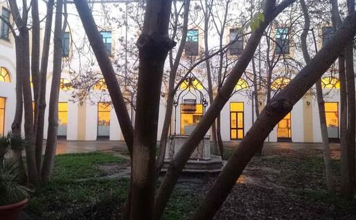 Il chiostro dell'ex convento di San Lucifero in via Sant'Eusebio, oggi sede del Foiso Fois