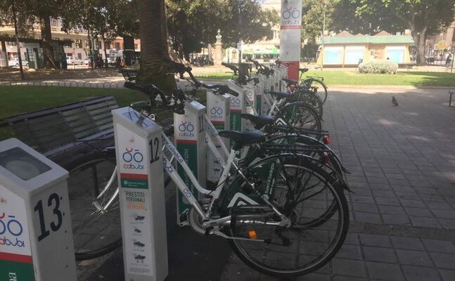 un area del bike sharing (foto archivio l unione sarda)