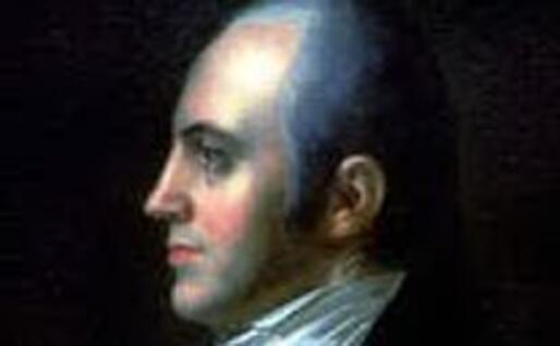 Aaron Burr (riproduzione a uso libero dal sito di Wikipedia)