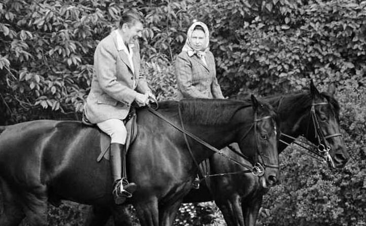 a cavallo con ronald reagan nel 1982